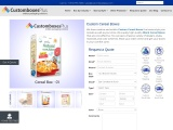 Get flat 20% off on Custom cereal boxes