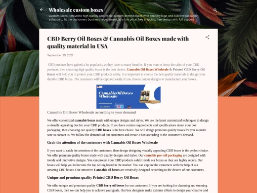 CBD Berry Oil Boxes & Cannabis Oil Boxes Wholesale with Printed Logo & Design