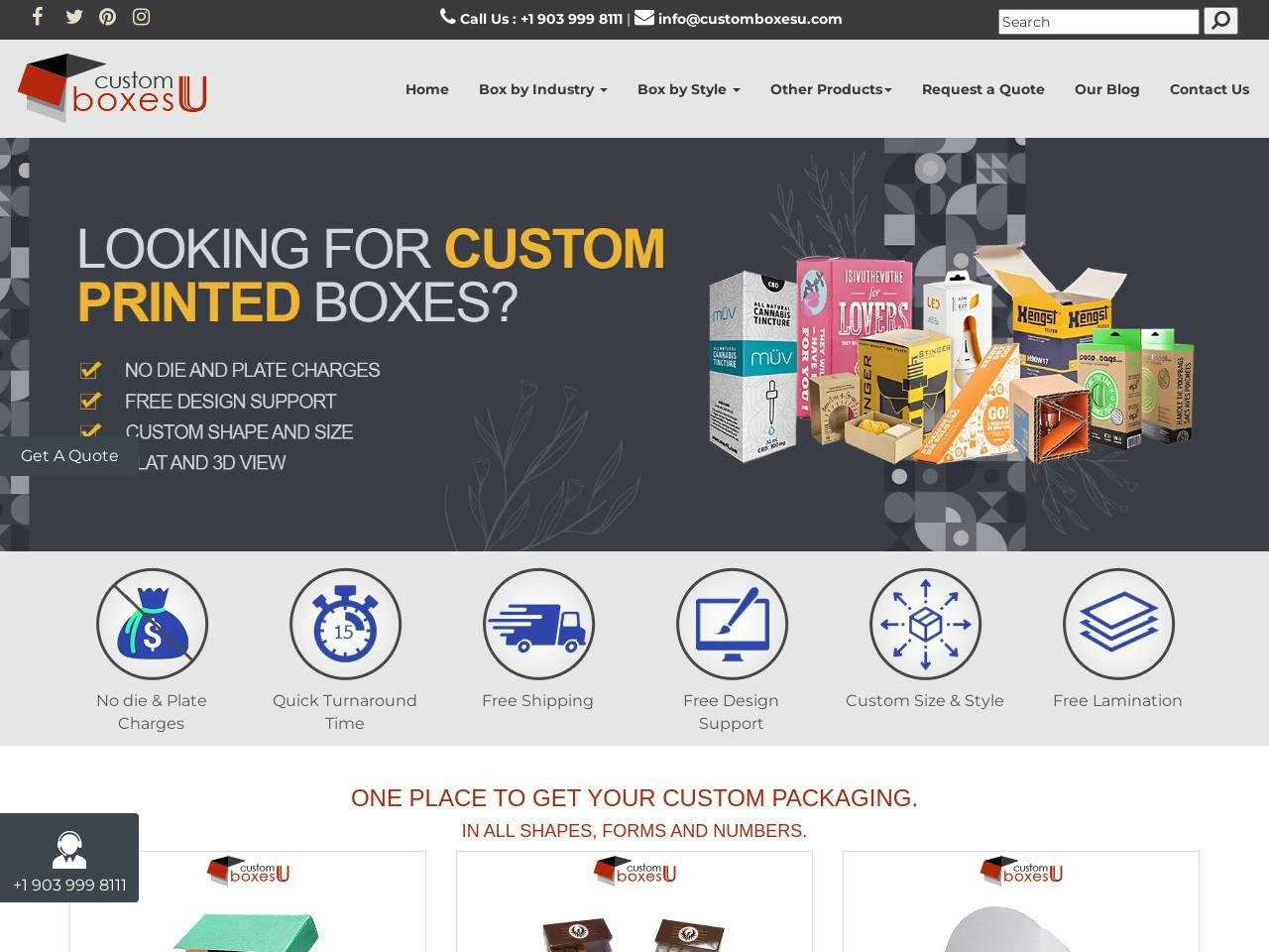 Custom Boxes california with Printed logo & Design