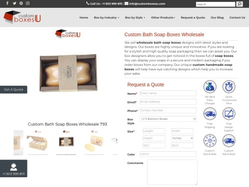 Custom Bath Soap Boxes Wholesale Available in All Sizes & Shapes in USA