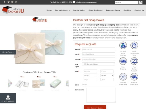 Custom Gift Soap Boxes free Shipping in Texas, USA