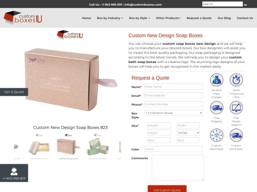 Printed Personalized Custom New Design Soap Boxes in Texas, USA