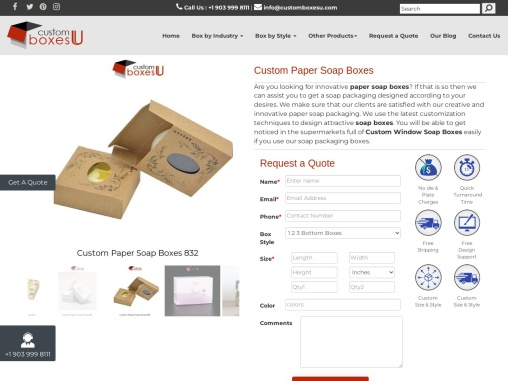 Custom Paper Soap Boxes with quality printing designs in USA