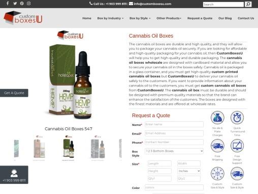 Enhance your sale with Custom Cannabis Oil Boxes