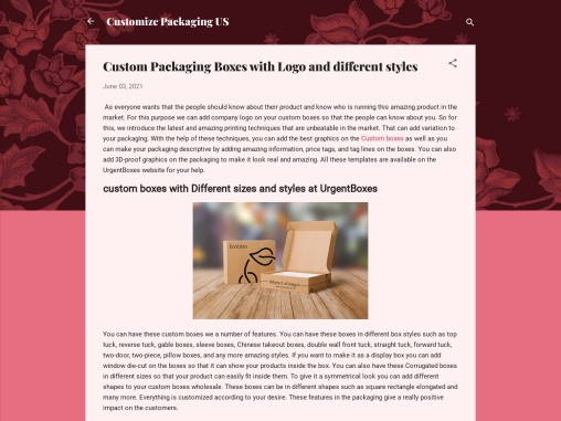 Custom Packaging Boxes with Logo and different styles