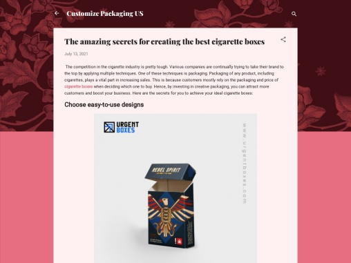 The amazing secrets for creating the best cigarette boxes