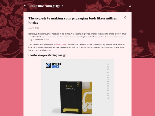 The secrets to making your packaging look like a million bucks
