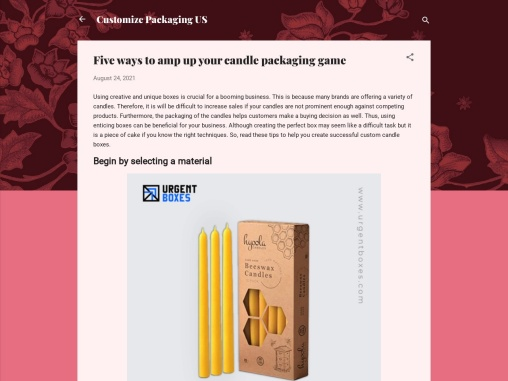Five ways to amp up your candle packaging game