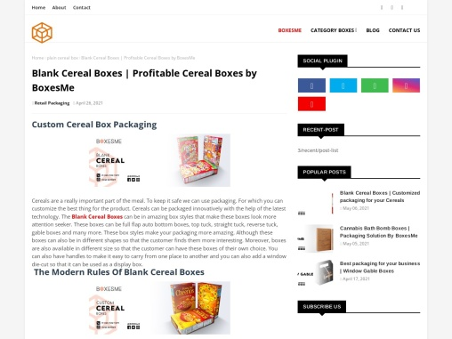 Blank Cereal Boxes | Profitable Cereal Boxes by BoxesMe