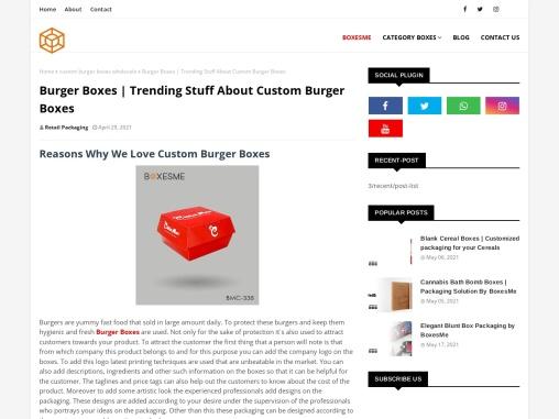 Burger Boxes | Trending Stuff About Custom Burger Boxes