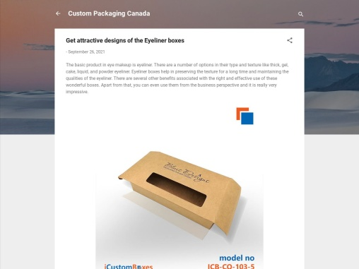 Get attractive designs of the Eyeliner boxes
