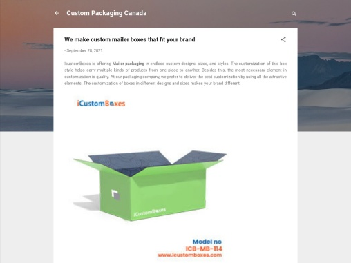We make custom mailer boxes that fit you product