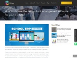 How to choose the best school management software for your institute?