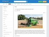 The importance of quality combine harvester parts