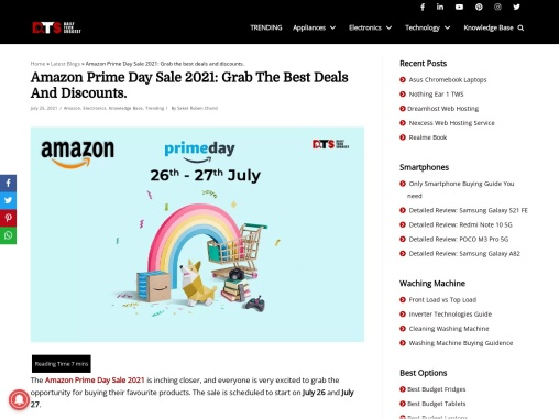 amazon prime day sale 2021   daily tech suggest