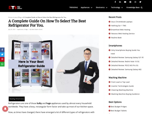 A Complete Guide On How To Select The Best Refrigerator For You