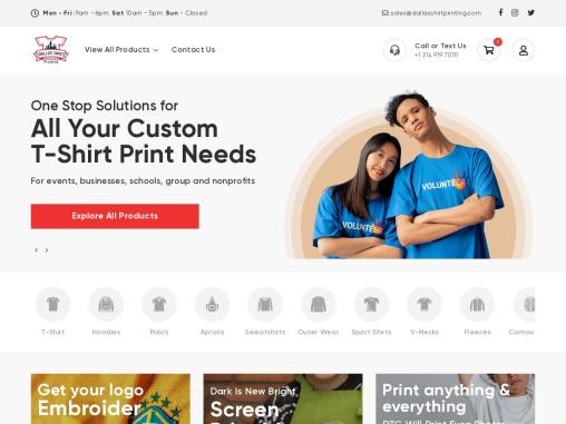 Dallas Shirt Printing   Serving from Dallas   Providing Service Nationwide