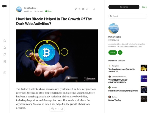 How Has Bitcoin Helped In The Growth Of The Dark Web Activities?