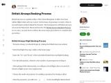 British Airways Booking Process