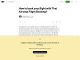 Thai Airways Flight Booking- Blog