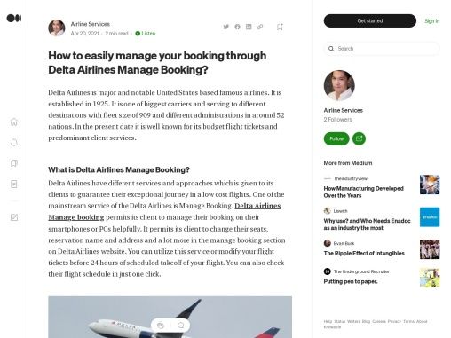 Delta Airlines Manage Booking Blog
