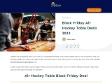 black friday air hockey table-Exclusive guide