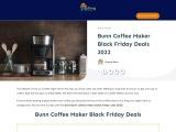 bunn coffee maker black friday