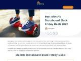 electric skateboard black friday