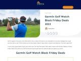 garmin golf watch black friday
