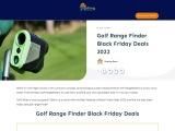 golf range finder black friday