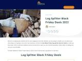 log splitter black friday-Exclusive guide