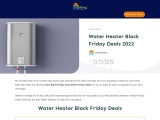 water heater black friday-Exclusive guide