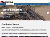 Cone Crusher Machine – large crushing ratio, high efficiency and quality