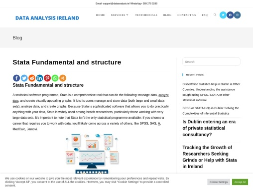 Stata: Fundamental and structure