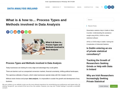 What is & how to… Process Types and Methods involved in Data Analysis – Data Analysis Ireland
