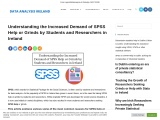 Understanding the Increased Demand of SPSS Help or Grinds by Students and Researchers in Ireland – D