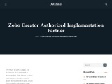 Zoho Creator Plus Implementation Partner| Datahikes| Zoho authorized partner