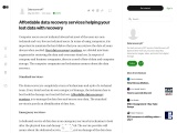 Affordable data recovery services helping your lost data with recovery