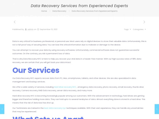 Data Recovery Services from Experienced Experts
