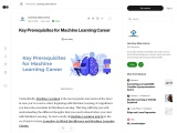 Key Prerequisites for Machine Learning Career