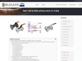 Top  Ball Valves Manufacturers in India