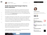 Simple Tips about Solar Energy to Help You Better Understand