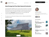 Solar Energy And You: Solar General Contractor