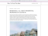 RESIDENTIAL: ALL ABOUT RESIDENTIAL PROPERTIES IN OLATHE KS