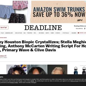 Whitney Houston film Stella Meghie Directing, Anthony McCarten writing Clive Davis – Deadline