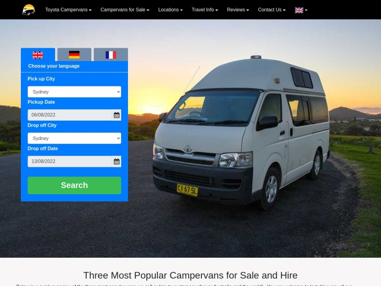 Travelwheels Campervan Hire screenshot
