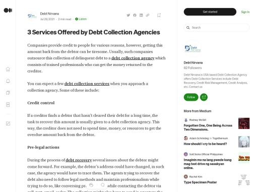 3 Services Offered by Debt Collection Agencies