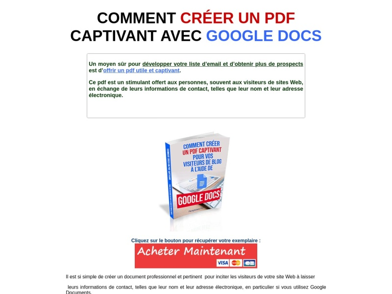 creer votre pdf captivant avec google docs