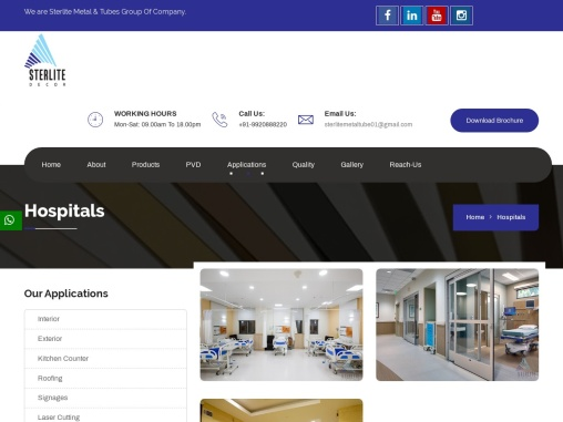 Hospitals| PVD | Sterlite Metal And Tubes Services