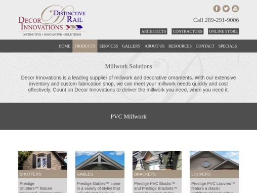 Install Custom Millwork | Polyurethane Millwork Products